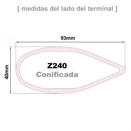 Cruceta Z240R conificada
